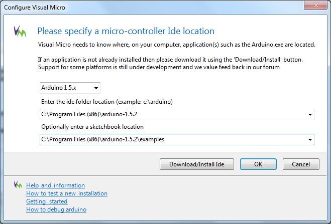 Configuring Visual Micro