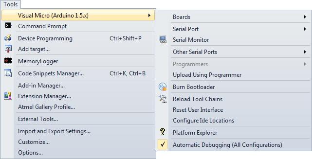 Инструменты Visual Micro